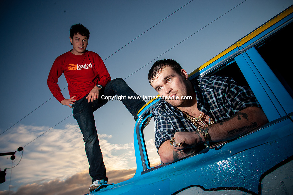 Michael Carroll, Lotto Lout, at his Fenland home. Shot for Loaded Magazine.