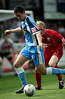 Photo: Marc Atkins.<br />Rushden & Diamonds v Wycombe Wanderers. Coca Cola League 2. 22/04/2006. Ian Stonebridge of Wycombe, sheilds the ball.