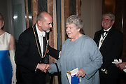 PROF CHRISTOPHER LE BRUN; DAME ANTONIA BYATT, Royal Academy of Arts Annual dinner. Piccadilly. London. 29 May 2012.