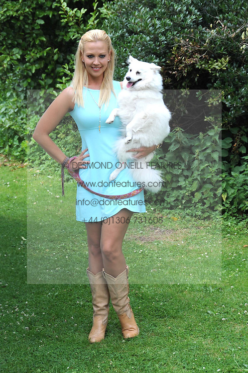 LIZ FULLER and her dog Amber at the Macmillan Dog Day in aid of Macmillan Cancer Support held at the Royal Hospital Chelsea, London on 8th July 2008.<br /><br />NON EXCLUSIVE - WORLD RIGHTS