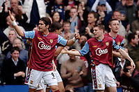 Photo: Glyn Thomas.<br />Aston Villa v Birmingham City. The Barclays Premiership. 16/04/2006.<br /> Villa's Milan Baros celebrates scoring his second goal.