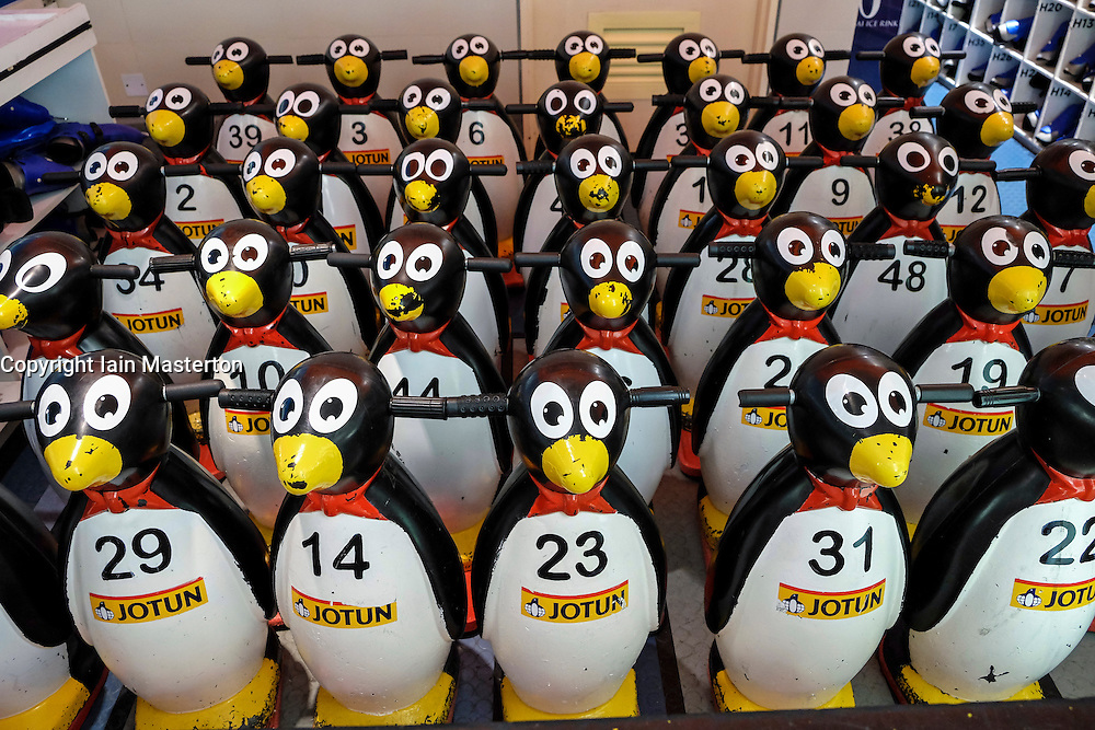 Penguin stability  training aids for ice skating beginners at Dubai Ice Rink in Dubai Mall United Arab Emirates