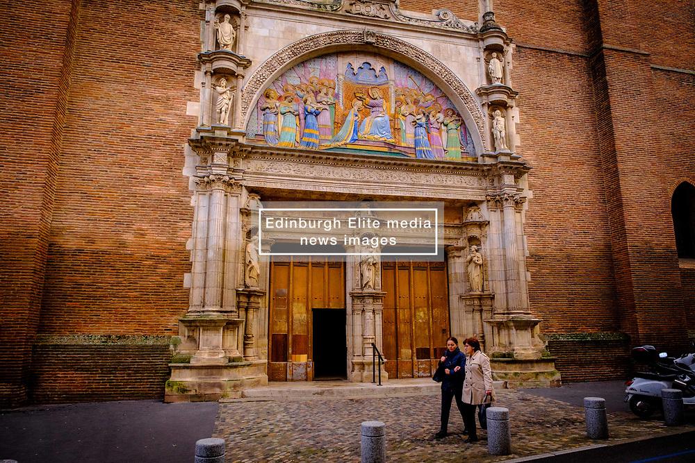 The main entrance to thee Église Notre-Dame de la Dalbade, Toulouse, France<br /> <br /> (c) Andrew Wilson   Edinburgh Elite media