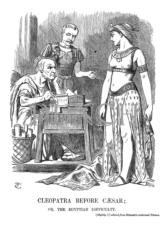 Cleopatra Before Caesar' or the Egyptian Difficulty. [Slightly (!) altered from Gerome's celebrated picture.