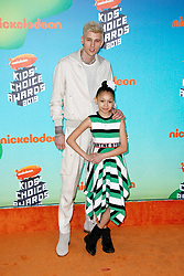 March 23, 2019 - Los Angeles, CA, USA - LOS ANGELES, CA - MARCH 23: Machine Gun Kelly, Casie Colson Baker attends Nickelodeon's 2019 Kids' Choice Awards at Galen Center on March 23, 2019 in Los Angeles, California. Photo: CraSH for imageSPACE (Credit Image: © Imagespace via ZUMA Wire)