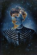 silver mirroring carte de visite studio portrait of an adult woman