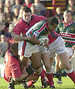 Leicester, Welford Road, Leicestershire, 30/09/2001, Freddie Tuilagi, during the,  Heineken Cup, match, Leicester Tigers vs Llanelli, Heineken Cup,<br /> [Mandatory Credit: Peter Spurrier/Intersport Images],<br /> Leicester Tigers v Llanelli Euro Cup  <br /> 29/9/01