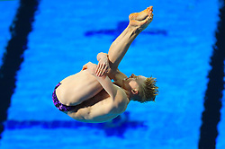 Scotland's Lucas Thomson competes in the Men's 1m Springboard Final at the Optus Aquatic Centre during day seven of the 2018 Commonwealth Games in the Gold Coast, Australia.