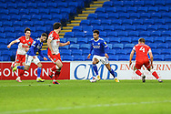 Cardiff City's Josh Murphy (11) dribbles the ball during the EFL Sky Bet Championship match between Cardiff City and Millwall at the Cardiff City Stadium, Cardiff, Wales on 30 January 2021.