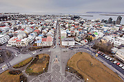 Photos of downtown Reykjavik view from top of Hallgrimskirkja church during Iceland Airwaves Music Festival in Reykjavik, Iceland. November 7, 2012. Copyright © 2012 Matthew Eisman. All Rights Reserved.