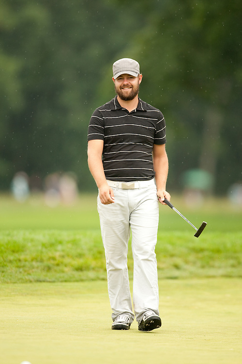 FARMINGDALE, NY - JUNE 20:  Ryan Moore  reacts to his putt during the continuation of the second round of the 109th U.S. Open Championship on the Black Course at Bethpage State Park on Saturday, June 20, 2009. (Photograph by Darren Carroll) *** Local Caption *** Ryan Moore