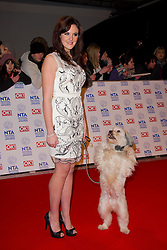 Ashleigh Butler and Pudsey arrives at the National Television Awards at the 02 Arena, London Wednesday January 23, 2013. Photo by Chris Joseph / i-Images