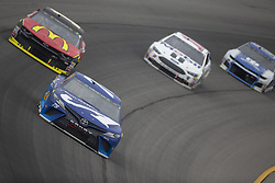 June 10, 2018 - Brooklyn, Michigan, United States of America - Martin Truex, Jr (78) races off turn one during the FireKeepers Casino 400 during a weather delay at Michigan International Speedway in Brooklyn, Michigan. (Credit Image: © Stephen A. Arce/ASP via ZUMA Wire)