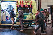 March 19, 2020, London, England, United Kingdom: In this picture, homeless men and women are seen queuing for food and free medical supplies by SWAT (Sikh Welfare and Awareness Team) in front of Zimbabwe Embassy in central London on Thursday, March 19, 2020. ..Homeless people in the United Kingdom are facing the risk of death from Coronavirus as they're the most vulnerable in regards to protection against Covid-19. Many homeless men and women are seen in central London, the British capital throughout the week, while the government is increasing pressures on its residents to self-isolate. Last years alone, 320,000 people were recorded as homeless in Britain, analysis from housing charity Shelter suggests. It is a rise of 13,000, or 4%, on last year's figures and equivalent to 36 new people becoming homeless every day. But the question is, where would they be isolating themselves when there's no home for them?..For most people, the new coronavirus causes only mild or moderate symptoms, such as fever and cough. For some, especially older adults and people with existing health problems, it can cause more severe illness, including pneumonia. (Credit Image: © Vedat Xhymshiti/ZUMA Wire)