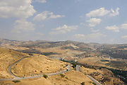 The view of the Golan from the Gamla nature reserve and Second Temple ancient Jewish city on the Golan Heights, Israel