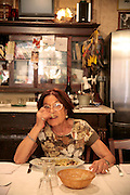 Woman eating spaghetti with clams in Fiaschetteria Beltramme - Via della Croce, Rome, Italy, Frommer's Italy Day By Day