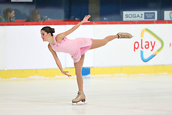 05.12.2015, Dom Sportova, Zagreb, CRO, ISU, Golden Spin of Zagreb, freies Programm, Damen, im Bild Sonia Lafuente, Spain. // during the 48th Golden Spin of Zagreb 2015 ladys Free Program of ISU at the Dom Sportova in Zagreb, Croatia on 2015/12/05. EXPA Pictures © 2015, PhotoCredit: EXPA/ Pixsell/ Davor Puklavec<br /> <br /> *****ATTENTION - for AUT, SLO, SUI, SWE, ITA, FRA only*****