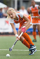 DEN BOSCH -  Charlotte Vega van Nederland tijdens de wedstrijd tussen de vrouwen van Jong Oranje  en Jong Wit-Rusland (15-0), tijdens het Europees Kampioenschap Hockey -21. ANP KOEN SUYK