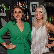 Larissa Eddie, Amel Rachedi attend the Macmillan - charity gala summer party at Pizza Express Dean Street on 8 August 2018, London, UK.