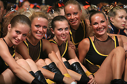Girls of Fenomen, Russia waiting for final ceremony at second day of European Cheerleading Championship 2008, on July 6, 2008, in Arena Tivoli, Ljubljana, Slovenia. (Photo by Vid Ponikvar / Sportal Images).