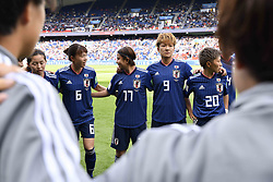June 10, 2019 - Paris, ile de france, France - Hina SUGITA (JPN), Rikako KOBAYASHI (JPN), Yuika SUGASAWA (JPN) and Kumi YOKOYAMA (JPN) in seen before the match between Argentina and Japan at the 2019 World cup  on June 10, 2019, at the Parc des Princes stadium in Paris, France. (Credit Image: © Julien Mattia/NurPhoto via ZUMA Press)
