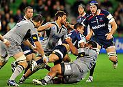Richard Kingi (Rebels)<br /> Melbourne Rebels v The Hurricanes<br /> Rugby Union - 2011 Super Rugby<br /> AAMI Park, Melbourne VIC Australia<br /> Friday, 25 March 2011<br /> © Sport the library / Jeff Crow