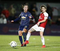 February 7, 2019 - London, England, United Kingdom - L-R Katie Zelem of Manchester United Women and Danielle van de Donk of Arsenal .during FA Continental Tyres Cup Semi-Final match between Arsenal and Manchester United Women FC at Boredom Wood on 7 February 2019 in Borehamwood, England, UK. (Credit Image: © Action Foto Sport/NurPhoto via ZUMA Press)