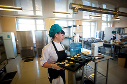 November 10, 2018 - Tambov, Tambov region, Russia - The pastry chef prepares pastries in the contest of professional skills in the city of Tambov (Credit Image: © Demian Stringer/ZUMA Wire)