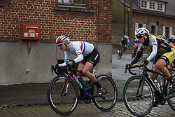 British national champion Hannah Barnes (CANYON//SRAM Racing) at the 112.8 km Le Samyn des Dames on March 1st 2017, from Quaregnon to Dour, Belgium. (Photo by Sean Robinson/Velofocus)