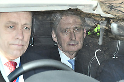 © Licensed to London News Pictures. 29/03/2019. London, UK. PHILIP HAMMOND is seen leaving parliament after the vote. MPs have voted against the withdrawal agreement, which sets out the terms of the UK's departure from the EU. Photo credit: Ben Cawthra/LNP