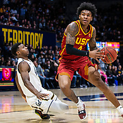 Feb 16  2019  Berkeley, CA  U.S.A.  USC guard Kevin Porter Jr. (4)drives to the basket during the NCAA Men's Basketball game between University of Southern California Trojans and the California Golden Bears 89-66 win at Hass Pavilion Berkeley Calif. Thurman James / CSM