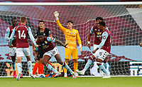 Football - 2019 / 2020 Premier League - Aston Villa vs. Chelsea<br /> <br /> Kortney Hause of Aston Villa celebrates scoring at Villa Park. <br /> <br /> <br /> COLORSPORT/LYNNE CAMERON