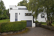 Front entrance view, exterior of Warren House, Wayne McGregor's Dartington Estate home in Devon<br /> Vanessa Berberian for The Wall Street Journal