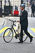 © Licensed to London News Pictures. 11/06/2013. westminster, UK. Jo Johnson, MP for Orpington and adviser to David Cameron in Downing Street with his bike. Ministers on Downing Street today 11th June 2013. Photo credit : Stephen Simpson/LNP