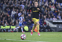 April 22, 2017 - Barcelona, Spain - Kevin Gameiro during the match between RCD Espanyol vs Atletico Madrid, for the round 33 of the Liga Santander, played at RCD Espanyol Stadium on 22th April 2017 in Barcelona, Spain. (Credit Image: © Anna Trigueros/NurPhoto via ZUMA Press)