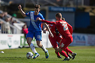 Hartlepool United midfielder Lewis Hawkins during  the Sky Bet League 2 match between Hartlepool United and York City at Victoria Park, Hartlepool, England on 16 April 2016. Photo by George Ledger.