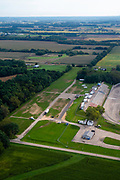 Aerial view of Madison International Speedway and rural Dane County, Wisconsin.