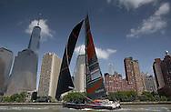 The IMOCA Ocean Masters. New York - Barcelona Race. The Hugo Boss Watches Charity Race. Safran Sailing Team - Marc Guillemot (FRA) & Morgan Lagraviere (FRA)<br /> Credit: Mark Lloyd / DPPI