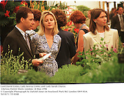 Lord David Linley, Lady Serena Linley and Lady Sarah Chatto. Chelsea Flower Show. London. 18 May 1998<br />