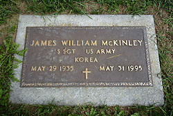 31 August 2017:   Veterans graves in Park Hill Cemetery in eastern McLean County.<br /> <br /> James William McKinley  Staff Sergeant  US Army Korea  May 29 1935  May 31 1995