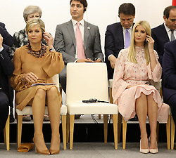 """Queen Maxima of the Netherlands and Ivanka Trump (Advisor to the President of the United States) - Side event organized by the Japanese Prime Minister, on the theme """"Promoting the place of women at work"""" at the Intex Osaka congress center at the G20 summit in Osaka, Japan, on June 29, 2019. Photo by Dominque Jacovides/Pool/ABACAPRESS.COM"""