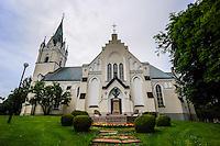 Sweden, Värmland, Sunne. Sunne Church is a large stone church built in 1888.