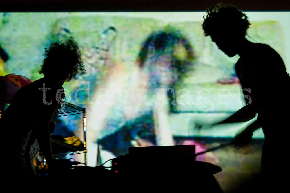 Chicks on speed performing at the Matadero in Madrid 2007