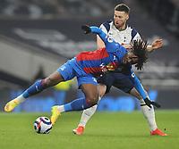 Football - 2020 / 2021 Premier League - Tottenham Hotspur vs Crystal Palace - Tottenham Hotspur Stadium<br /> <br /> Matt Doherty of Tottenham tussles with Eberechi  Eze of Palace<br /> <br /> Credit : COLORSPORT/ANDREW COWIE