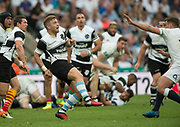 Twickenham, Surrey, United Kingdom.  Ian MADIGAN, kicking clear,  during the, Old Mutual Wealth Cup, England vs Barbarian's match, played at the  RFU. Twickenham Stadium, on Sunday   28/05/2017England    <br /> <br /> [Mandatory Credit Peter SPURRIER/Intersport Images]