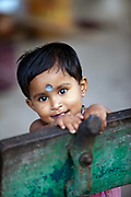 A child on the Strand, Chandannagar, India