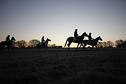 © Licensed to London News Pictures. 12/12/2017. Epsom, UK. Frost coats the grass on Epsom Downs after a night of freezing sub zero temperatures. Photo credit: Peter Macdiarmid/LNP