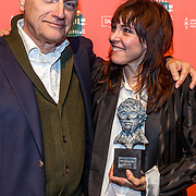 NLD/Amsterdam/20180415 - Uitreiking Annie M.G. Schmidt-prijs 2018, Jacques  Kloters en winnares Wende Snijders
