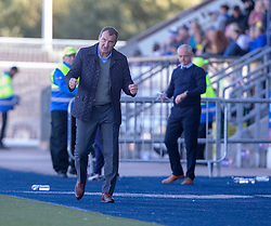 Dundee United's manager Csaba Laszlo at the end. Falkirk 0 v 2 Dundee United, Scottish Championship game played 22/9/2018 at The Falkirk Stadium.
