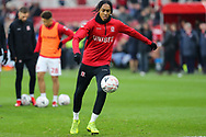 Middlesbrough midfielder Rajiv Van La Parra (29) in the warm up before The FA Cup 3rd round match between Middlesbrough and Peterborough United at the Riverside Stadium, Middlesbrough, England on 5 January 2019.